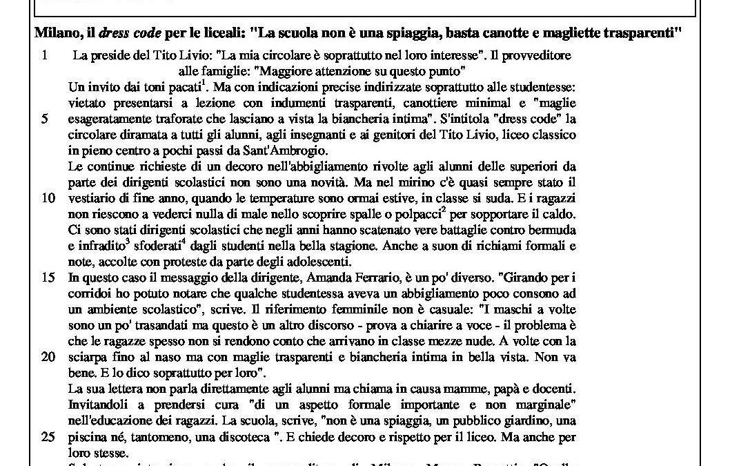 Italiano – modelo