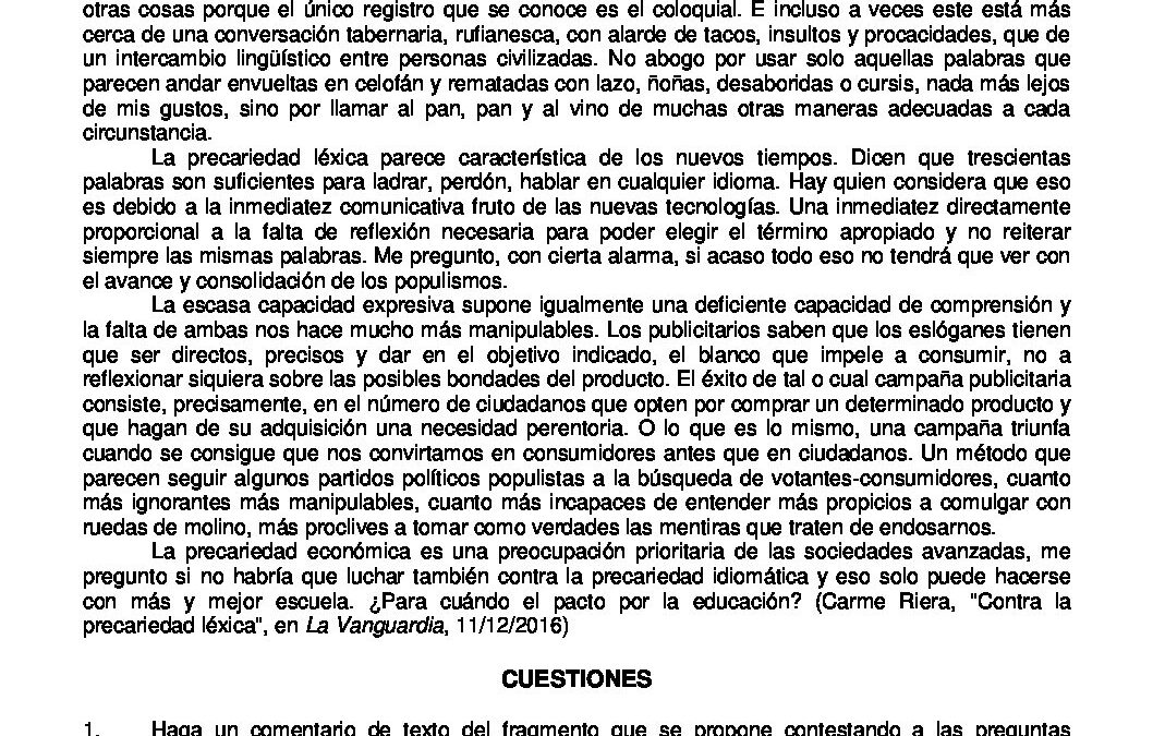 Lengua castellana y literatura – coincidentes