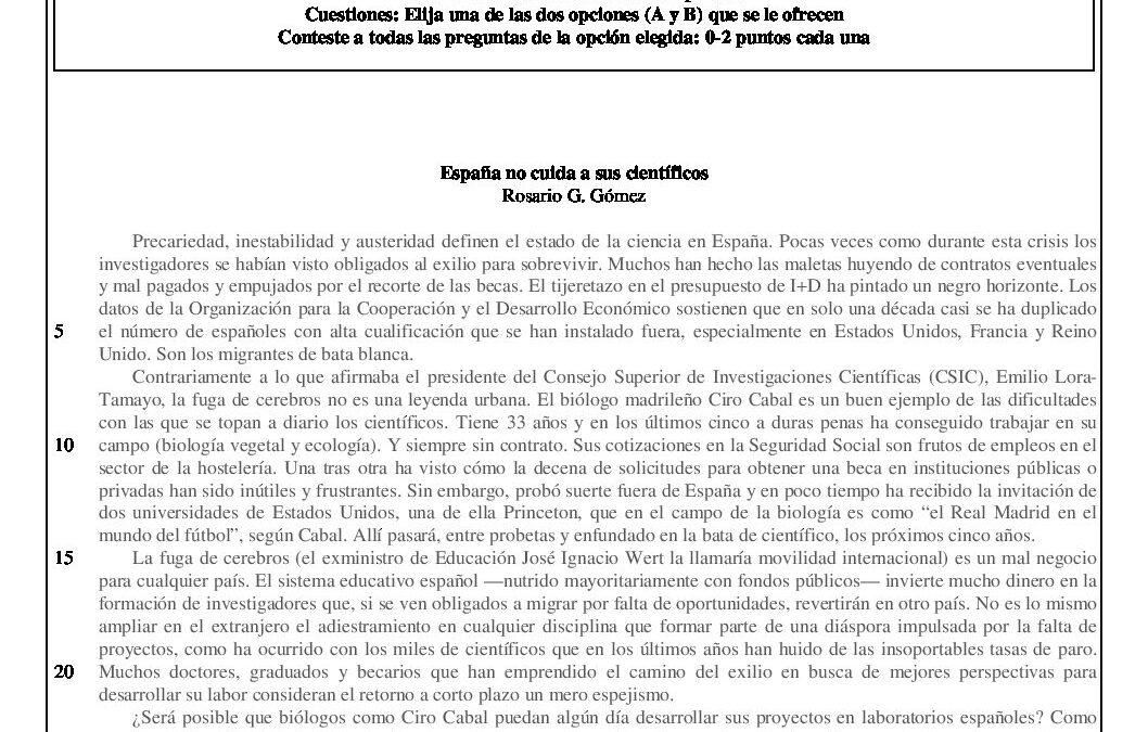 Lengua castellana y literatura – modelo