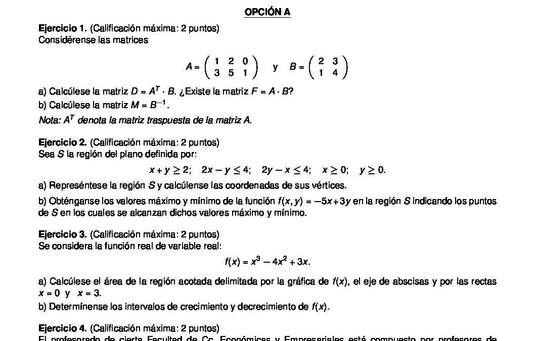 Matemáticas aplicadas a las ciencias sociales – coincidentes