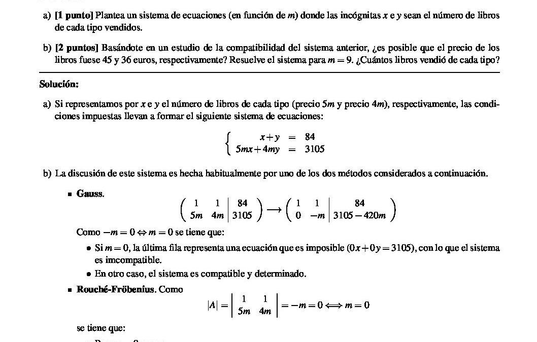 Matemáticas aplicadas a las ciencias sociales – solución