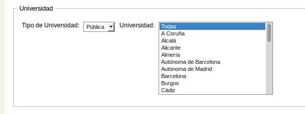 Listado de Universidades Pública y Privada